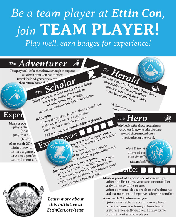 Poster for TEAM PLAYER initiative